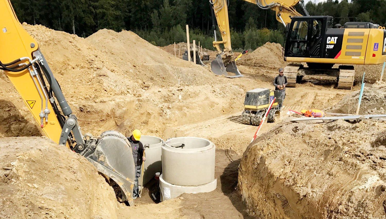 KNEBEL Baugesellschaft Projekt Kanalbau - Herstellung in Ortbeton- oder Fertigteilbauweise
